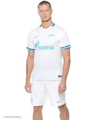 Футболка ZENIT SS H/A STADIUM JSY Nike. Цвет: белый, голубой, светло-серый