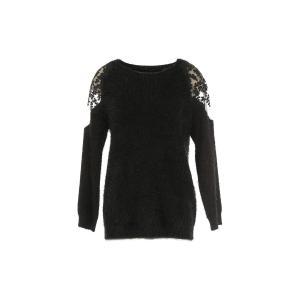 Пуловер с круглым вырезом из тонкого трикотажа RENE DERHY. Цвет: черный