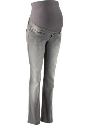 Джинсы стретч с прямыми брючинами для беременных (серый деним) bonprix. Цвет: серый деним