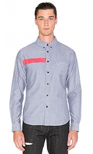 Рубашка на пуговицах ulai Black Scale. Цвет: серый