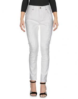 Джинсовые брюки MAISON CLOCHARD. Цвет: слоновая кость