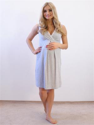 Ночная сорочка Адель. Цвет: серый меланж