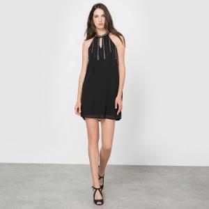 Платье с американской проймой MOLLY BRACKEN. Цвет: красный