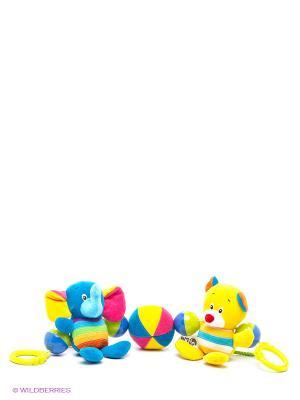Дуга с погремушками для кроватки, коляски, кресла S-S. Цвет: желтый