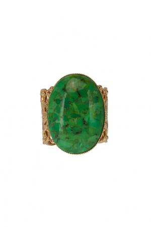 Кольцо с зеленым камнем IMAI by Julie Borgeaud. Цвет: зеленый