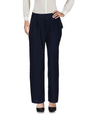 Повседневные брюки JUST FEMALE. Цвет: темно-синий