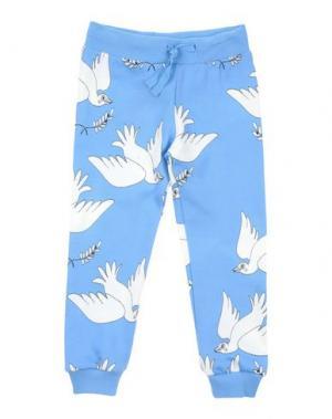 Повседневные брюки MINI RODINI. Цвет: лазурный