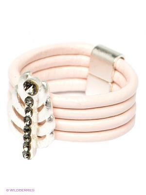Кольцо Krikos. Цвет: розовый, серый, серебристый