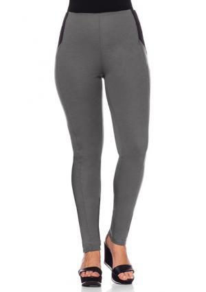 Узкие брюки sheego. Цвет: темно-серый