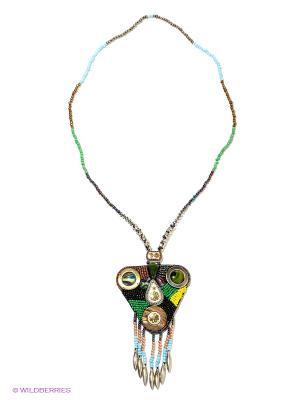 Ожерелье Infiniti. Цвет: зеленый, бордовый, желтый, черный