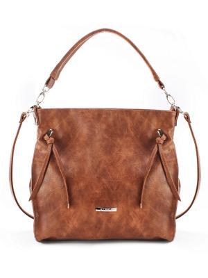 Женская сумка S.LAVIA. Цвет: рыжий
