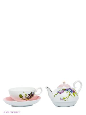 Чайная пара Соло Примадонны Pavone. Цвет: белый, зеленый