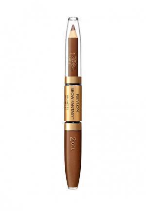 Карандаш для бровей Revlon. Цвет: коричневый