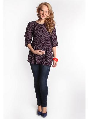 Блуза Мамуля красотуля. Цвет: синий
