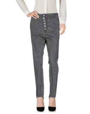 Повседневные брюки SACK'S. Цвет: свинцово-серый