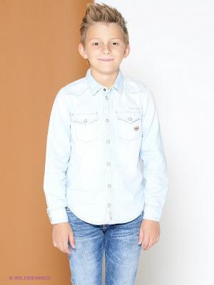 Рубашка PEPE JEANS LONDON. Цвет: светло-голубой