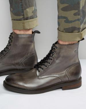 Base London Кожаные ботинки со шнуровкой Track. Цвет: серый