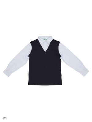 Пуловер LIK. Цвет: темно-синий, голубой