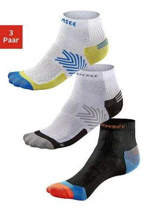 Функциональные короткие носки, Chiemsee, »Running« (3 пары) CHIEMSEE. Цвет: 1xw,1xw,1xs