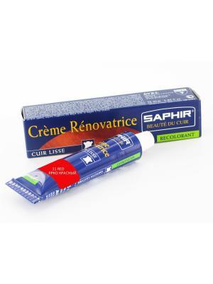 Восстановитель кожи Creme RENOVATRICE, 25 мл. (жидкая кожа)(11 КРАСНЫЙ) Saphir. Цвет: красный