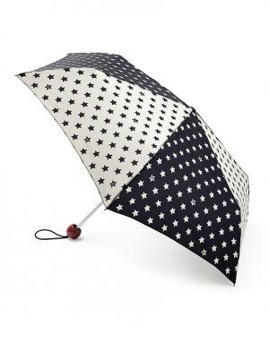 Зонт механический Звезды  by Fulton Lulu Guinness. Цвет: черно-белый