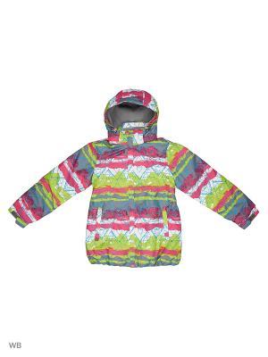 Куртка High Experience. Цвет: салатовый, лиловый, белый