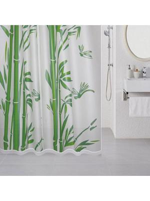 Штора для ванной Milardo. Цвет: белый, зеленый