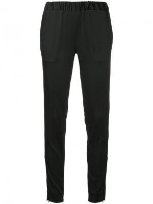 Эластичные брюки слим 08Sircus. Цвет: чёрный