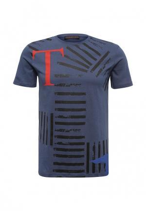 Футболка Trussardi Jeans. Цвет: синий