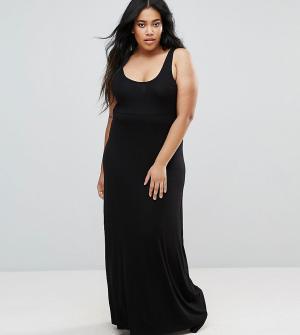 ASOS Curve Длинное платье-майка. Цвет: черный