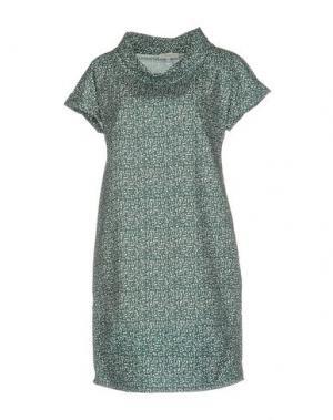 Короткое платье ANTONELLI. Цвет: цвет морской волны