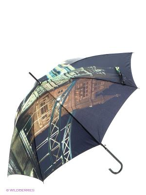 Зонт Flioraj. Цвет: черный, коричневый