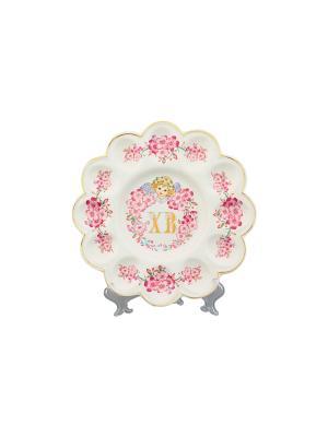 Тарелка для фаршированных яиц ХВ Сакура Elan Gallery. Цвет: розовый
