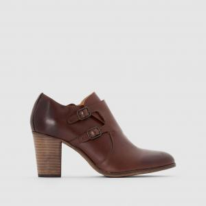 Ботинки-дерби кожаные на каблуке и с клапаном Dailymoc KICKERS. Цвет: черный
