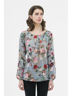 Блузка Modern. Цвет: голубой