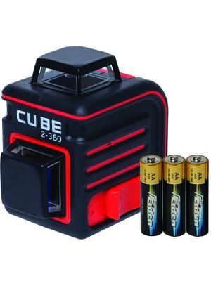 Построитель лазерных плоскостей ADA Cube 2-360 Basic Edition instruments. Цвет: черный, красный