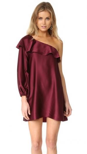 Платье Luella Amanda Uprichard. Цвет: винный