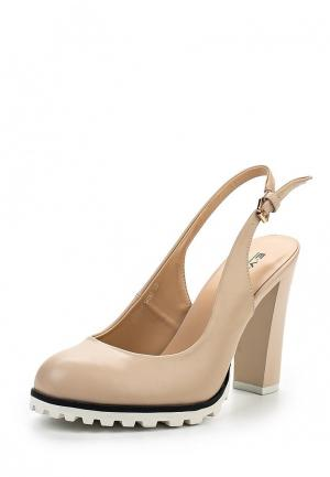 Туфли Evita. Цвет: бежевый