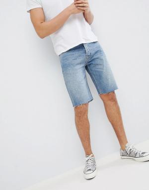Mennace Синие джинсовые шорты. Цвет: синий