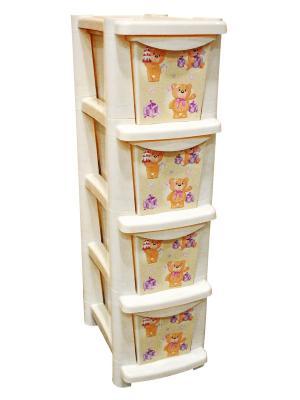 Детский комод для детской комнаты Bears 245мм Little Angel. Цвет: бежевый