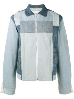 Джинсовая куртка с панельным дизайном Facetasm. Цвет: синий