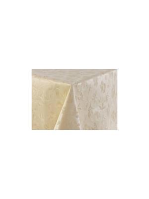 Скатерть ПВХ Silk д.140 DEKORTEX. Цвет: бежевый