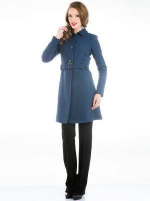 Пальто Levall. Цвет: синий