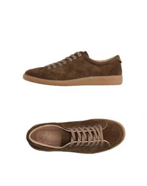 Низкие кеды и кроссовки LUIGI BORRELLI NAPOLI. Цвет: хаки
