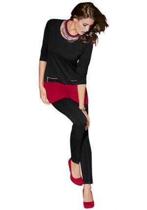 Удлиненная кофточка Maria Bellesi. Цвет: черный/красный