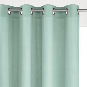 Штора с люверсами из льна/вискозы, Odorie La Redoute Interieurs. Цвет: бледно-зеленый