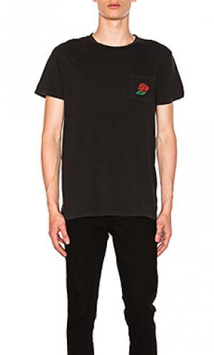 Футболка с карманом wild rose ROLLAS ROLLA'S. Цвет: черный