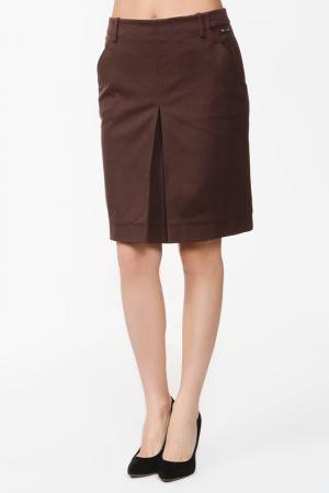 Юбка Celine. Цвет: коричневый