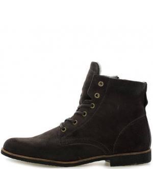 Серые замшевые ботинки NOBRAND. Цвет: серый