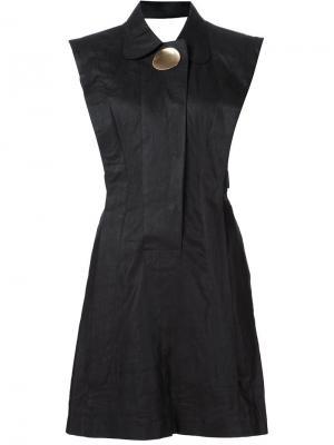 Приталенное платье с брошью Opening Ceremony. Цвет: чёрный